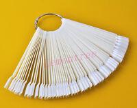 50PCS False Display Nail Art Fan Wheel Polish Practice Color Pop Tip Sticks TK