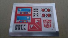 A Transformers replacement sticker/decal sheet for G1 Blaster