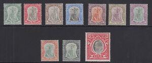 Montserrat SG14/23 1903 set wmk Mult Crown CA M/Mint