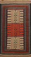 Flat-Weave Tribal Sumak Kilim Geometric Oriental Area Rug Home Decor Carpet 4x6