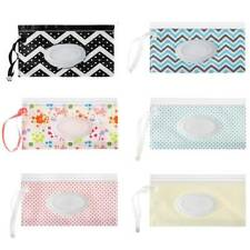 1Pcs Baby Wet Wipe Pouch Travel Wipes Case Refillable Wet Wipe Bag Dispenser