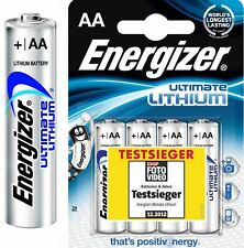 4 Energizer Ultimate Lithium AA Mignon MN1500 LR6 AM3