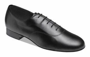 "Supadance 5000 1"" Heel Men's Black Leather Ballroom Dance Shoes(sz8 -12)"