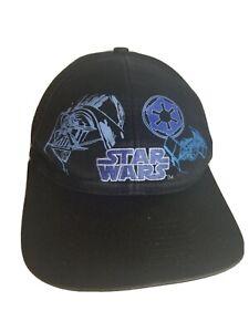 Rare Vintage Star Wars 1997 Baseball Cap Hat 90s Darth Vader Death Star Fighter