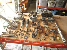 75 Suzuki TS185 Crankcases Cylinder Clutch Shocks Flywheel Stator Etc Parts Lot