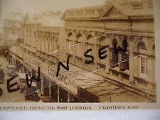 ANTIQUE VINTAGE PHOTO POSTCARD HIGH STREET FREMANTLE WESTERN AUSTRALIA TOWN HALL