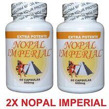 X2 UNID NOPAL IMPERIAL 60 CAPSULES NOPAL EXTRA  100% ORIGINAL NOPAL CACTUS