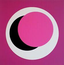 Geneviève Claisse sérigraphie signée estampe couleurs abstrait abstraction