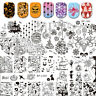 Born Pretty Christmas Nail Stamping Stamp Plates Halloween Theme Manicure