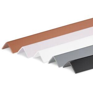 2m PVC Winkelleiste Winkelprofil Leiste Kantenschutz Kunststoffwinkelprofil weiß