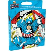 Marvel's Captain America Comic Art Images Set of 4 Neoprene Coasters NEW UNUSED