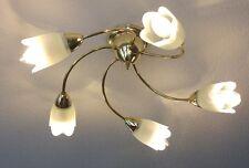 """"""" EGLO """" Deckenleuchte, Lampe 5-flammig mit neuen LED Kerzen"""