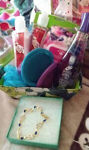 Lovely Lady perfume beauty product Christmas gift basket Crystal bracelet women
