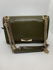 Michael Kors Jade Gusset Leather Shoulder Bag Olive   MSRP  = $228