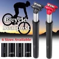 Mountain Bike Suspension Seat Post Seatpost 27.2/28.6/30.4/30.9/31.6/33.9 x350mm