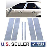 2006-2011 Toyota Yaris 5Dr Hatchback 6Pc Chrome Pillar Post Stainless Steel Trim
