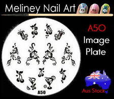 A50 Stamping Nail Art Image Plate Design Round XL Stencil metal