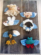 Critter Lapel Pin Pattern Connie Spurlock Crow Teddy Bear Pig Lamb Frog