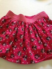 Justice Size 12 Pink Floral Skirt Polkadot Waistband Shorts Underneath