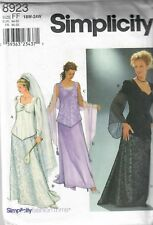 Women's Top Skirt Shawl Simplicity Pattern 8923 Wedding Gown Formal Prom 18W-24W