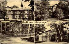 DDR Landpoststempel BÖRGITZ über STENDAL Postkarte 1960 Gruss aus UCHTSPRINGE