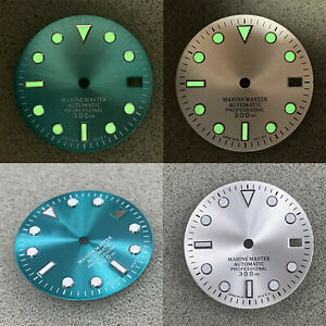 Green Luminous 29mm Watch Dial Replacement Part for NH35/4R/7S Watch Movement