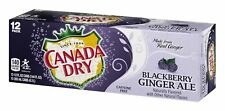 Canada Dry Ginger Ale Blackberry Soda, 12 Ounce (12 Cans)