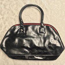Queen Latifah Latifa Women's Ladies Black Purse Handbag Red Lined