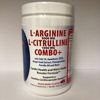 Combo L Arginine 5000mg & L Citrulline 1000mg Mixed Berry Flavor, Nitric Oxide