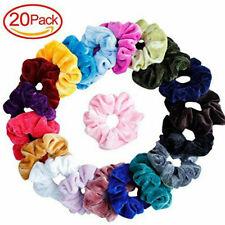 ae031fe3d 20 Pcs Hair Scrunchies Velvet Elastic Hair Band Scrunchy Women Hair Band Hot