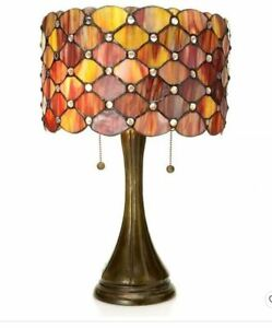 Warehouse Of Tiffany 16X22 Tiffany Style Modern Table Lamp TF7048TL Red