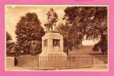 Unposted postcard. Tavistock, Drake Statue, Devon