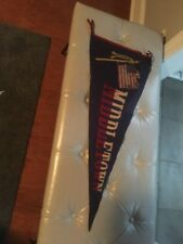 Vintage Middletown Pennant Rare With American Flag. Old