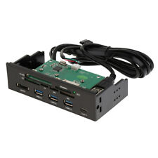 5.25 Inch PC Dashboard Media Front Panel With eSATA 3Port USB3.0 Card Reader