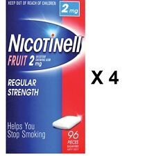 Nicotinell Fruit Gum 2mg 384 Pack - quit smoking -LARGE PACK