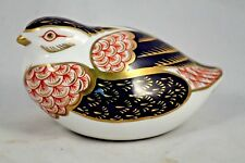 Royal Crown Derby Bone China Bird/Quail England Hand Painted Collectible Decor