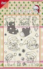 JOY Crafts Set Timbri Trasparenti Natale Orsi in Calze 6410/0120 ridotto