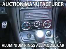 Mazda Miata MK2 MX-5 NB2 98-05 Aluminium Chrome Heater Control Rings Surrounds