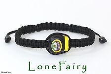 Hand Crafted Unisex Black Marmite Adjustable Bracelet Kitsch Food Chef
