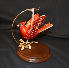 2015 HALLMARK - RUBY RED CARDINAL - PREMIUM METAL ORNAMENT- MINT IN BOX