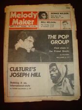 MELODY MAKER 1979 MAR 24 POP GROUP CULTURE NAZARETH BILL NELSON CURE SEX PISTOLS