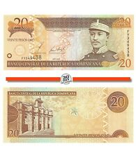 Dominican Republic 20 Pesos 2002 Unc Pn 169b