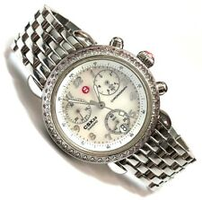 LIMITED Michele CSX33 Diamond & Pink Sapphire Chronograph Mother of Pearl Watch