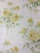 """SANDERSON CURTAIN FABRIC DESIGN """"Adele"""" Yellow/Green/Ivory By The Meter"""