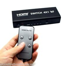 HDMI Switch 4×1 Audio Toslink Coaxial Selector Switching Switcher Controller New