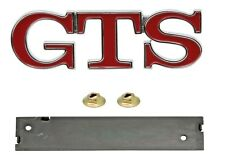 HOLDEN HZ - GTS BADGE - RED - FENDER/GUARD OR BOOT OR GRILLE