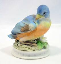 Lefton China Easter Blue Bird Figurine Statue Kw 1637 Hand Painted