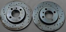 Fits 84-85 BMW 318 Cross Drilled Brake Rotors Front Pair