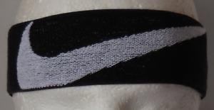 Nike Logo Knit Elastic Headband Black/White Men's Women's