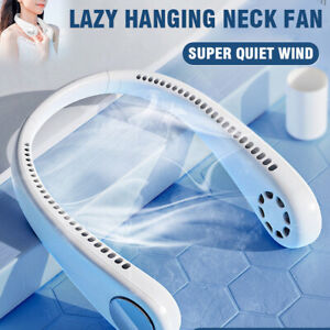 USB Portable Hanging Neck Fan 2 In 1 Air Cooler Mini Electric Air Conditioner ea